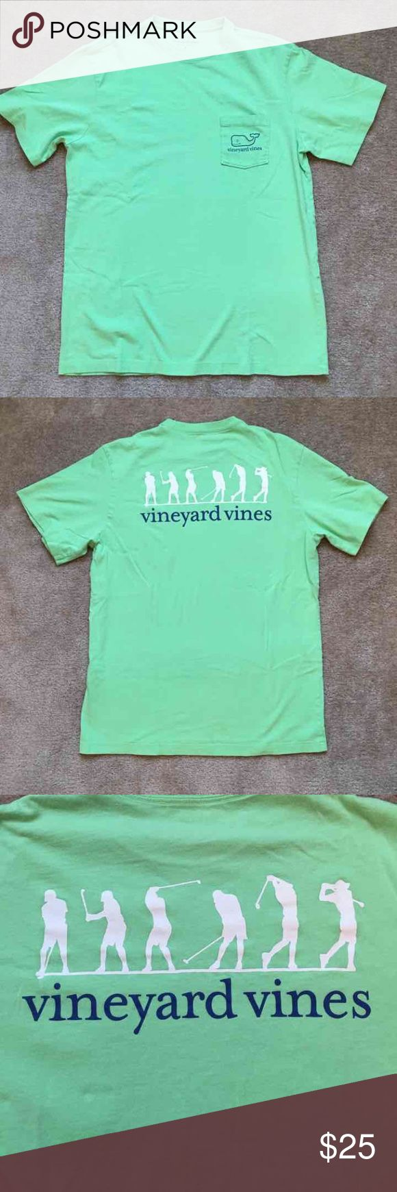 Vineyard vines tshirt This is a men's size small with golf graphics on the back. Vineyard Vines Tops Tees - Short Sleeve