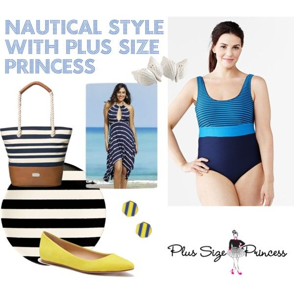 Nautical Style With Plus Size Princess by ve-ethnic-channel on Polyvore featuring Joe's Jeans, Nine West, Ariella Collection, Kate Spade, contestentry and PVCurvyChic