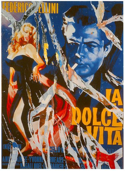 Mimmo Rotella: The dance of Anita and Marcello 2004