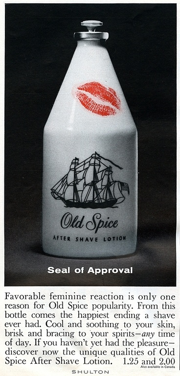 Old Spice Aftershave Ad 1962