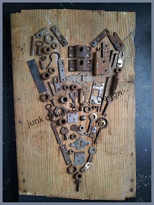 "Make this with all old keys and write ""key to my heart"""