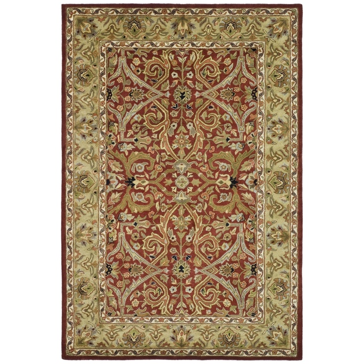 Safavieh handmade heritage timeless traditional red gold for Red and gold area rugs