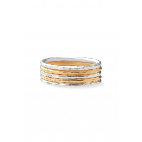 Stella & Dot Stackable Band Rings- Set of 5
