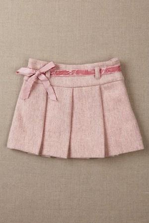 Tweed Skirt - Heather Pink