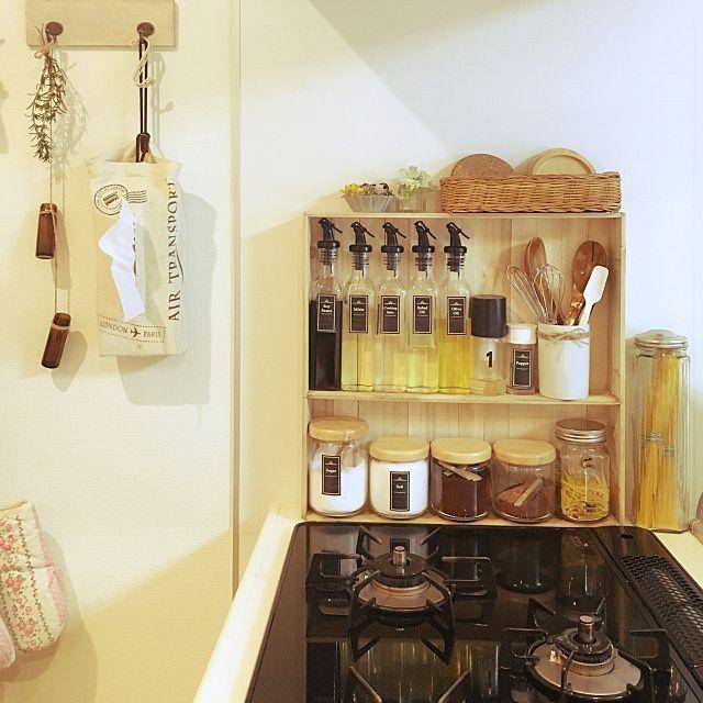 キッチン 無印良品 ラベル 調味料棚diy キッチンがlixilです などのインテリア実例 2016 02 06 11 31 02 Roomclip ルームクリップ インテリア インテリア 実例 Diyキッチン