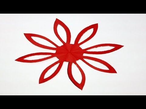 How To Make Easy Simple Paper Cutting Flower Paper Cutting Designs