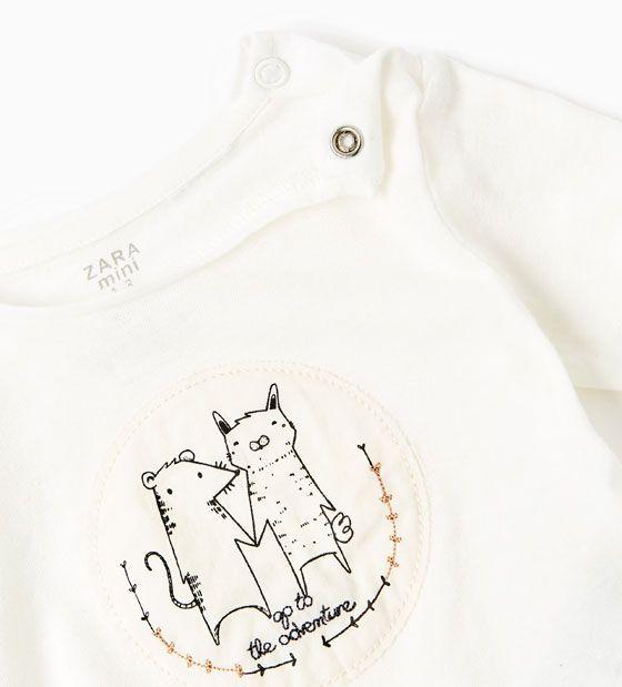 Imagen 3 de Camiseta orgánica animales de Zara