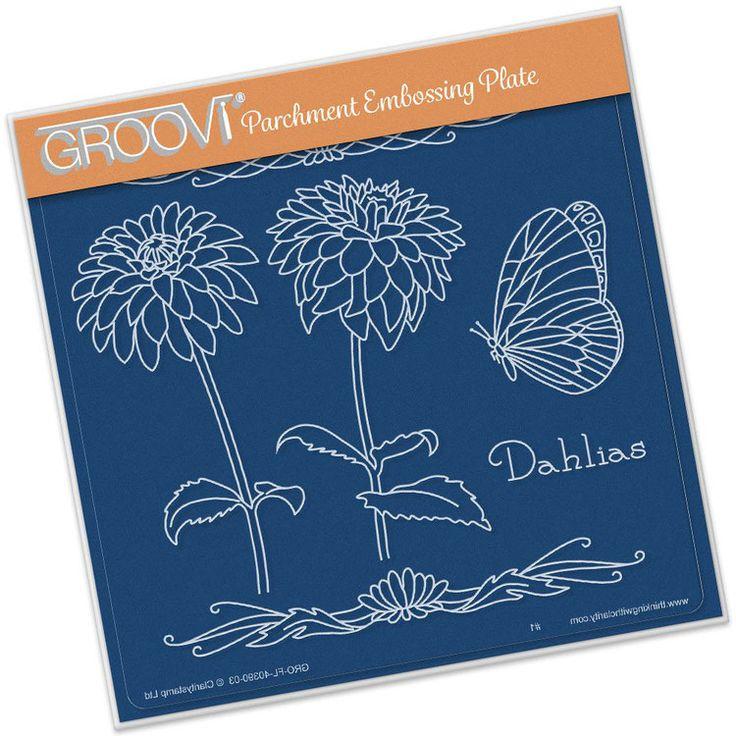 GROOVI PLATE - JAYNE'S DAHLIAS NAME PLATE