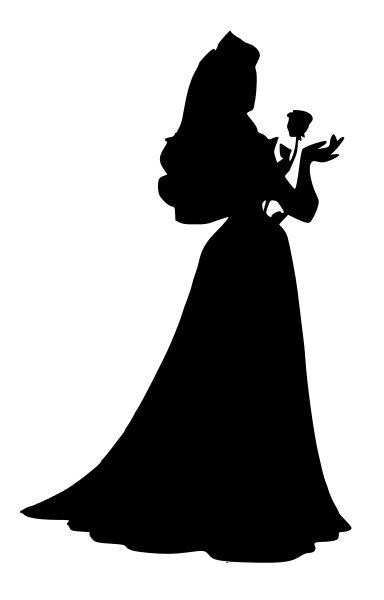 Sleeping Beauty Aurora Silhouette Decal by NerdVinyl on Etsy, $5.00