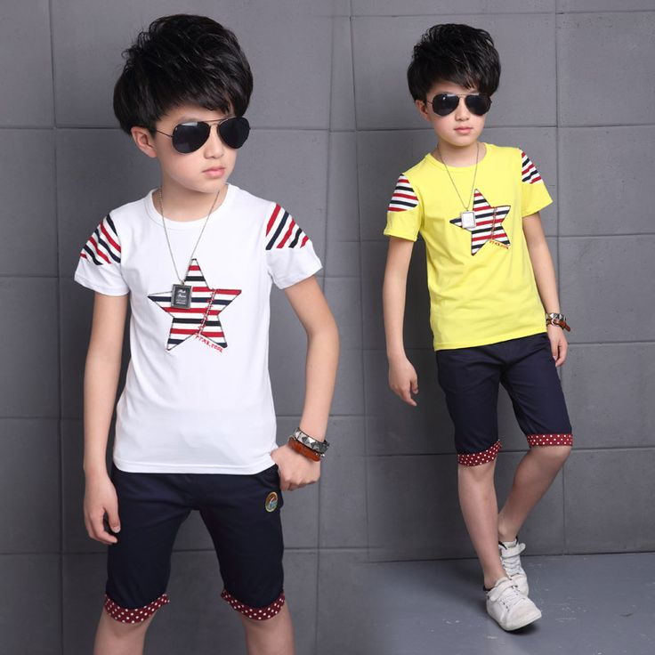 >> Click to Buy << Kids Boys Summer Children New Clothes Suit Short Sleeved Two Piece Kids Clothing Sets Hot White Yellow #Affiliate