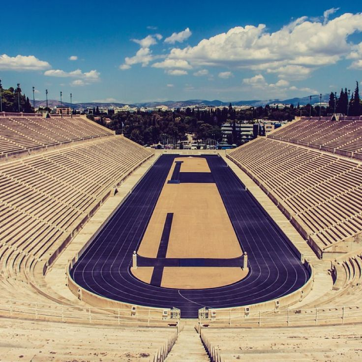 The Panathenaic Stadium in Athens is one of the city's main attractions. It is also the final venue in Greece from where the Olympic flame handover ceremony to the host nation takes place.