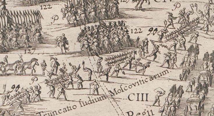 Rozbieranie zasieków po zdobyciu okopów przez piechotę polską