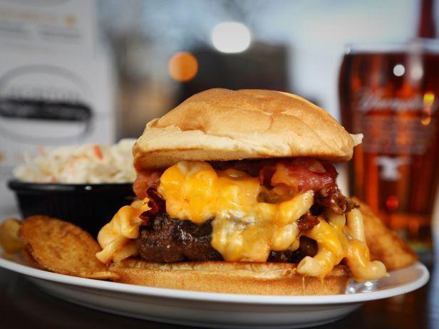 Mac and Cheese Burger at the Boston Burger Company
