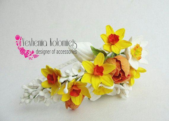 Spring rustic wedding wedding headpiece от FlowerFromEugene