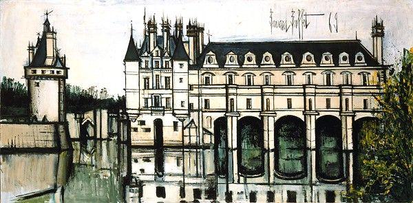 Bernard BUFFET ( 1928 - 1999 ) - Peintre Francais - French Painter Châteaux de…