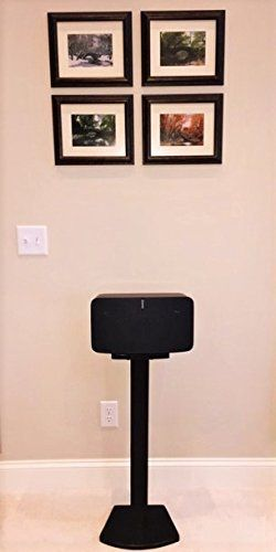 "Beautiful, sleek Black SONOS PLAY 5 (2nd Generation) Speaker Stand. Handcrafted Wood. Unlike speakers designed for the previous generation of PLAY 5 and many ""universal"" speakers, these speakers are custom designed for SONOS PLAY 5 (2nd Generation) and built for function and... more details available at https://furniture.bestselleroutlets.com/game-recreation-room-furniture/tv-media-furniture/speaker-stands/product-review-for-beautiful-wood-speaker-stand-handcrafted-"