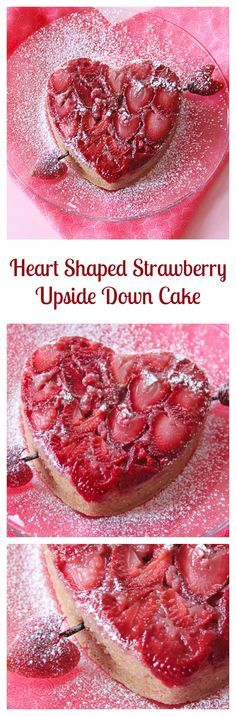 Heart Shaped Strawberry Upside Down Cake and Video | Grandbaby Cakes