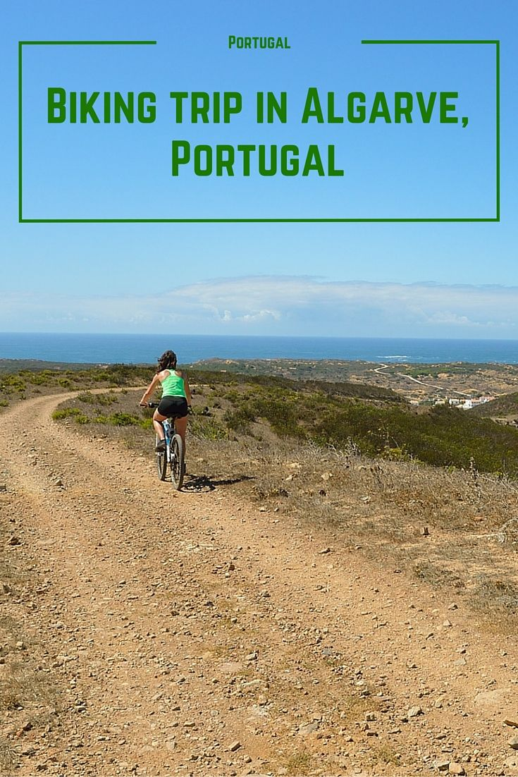 Biking trip in Algarve, Portugal along the western coast of the country.
