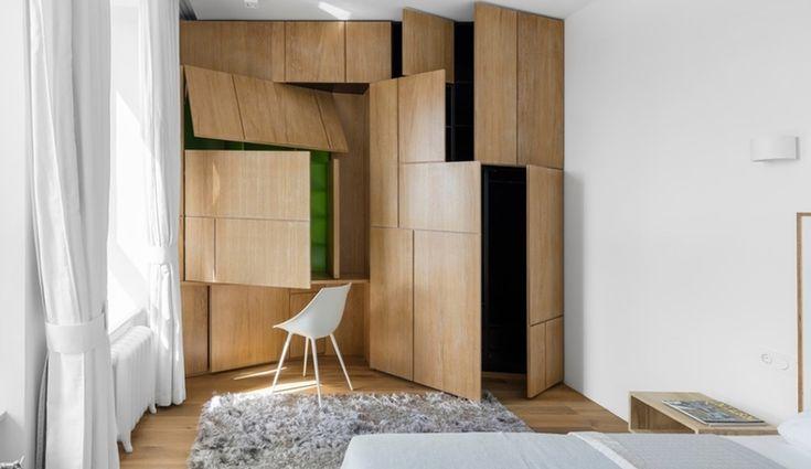 This Tiny Monoloko-Designed Apartment in Moscow is Full of Surprises | azuremagazine.com