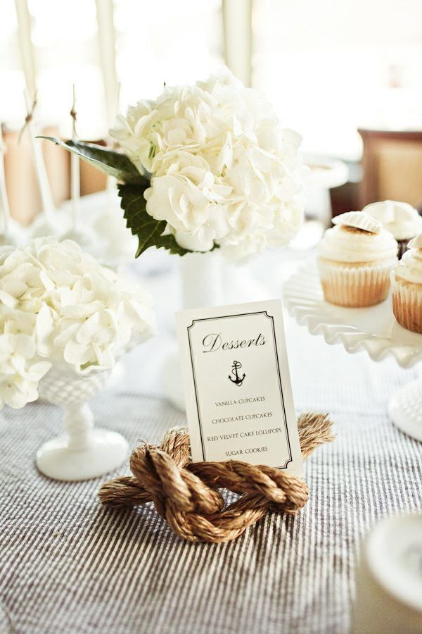 Nœud Marin Element Mariage Deco Table Mer Decoratie Strandhuwelijk Bruiloft Decor