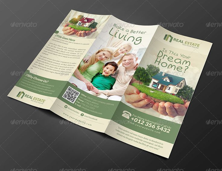 Corporate Bi Fold Brochure Template  Brochure Design