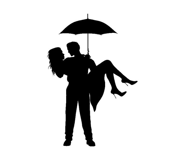 Romantic Couple Silhouettes - People Characters_super for crayon art ;D