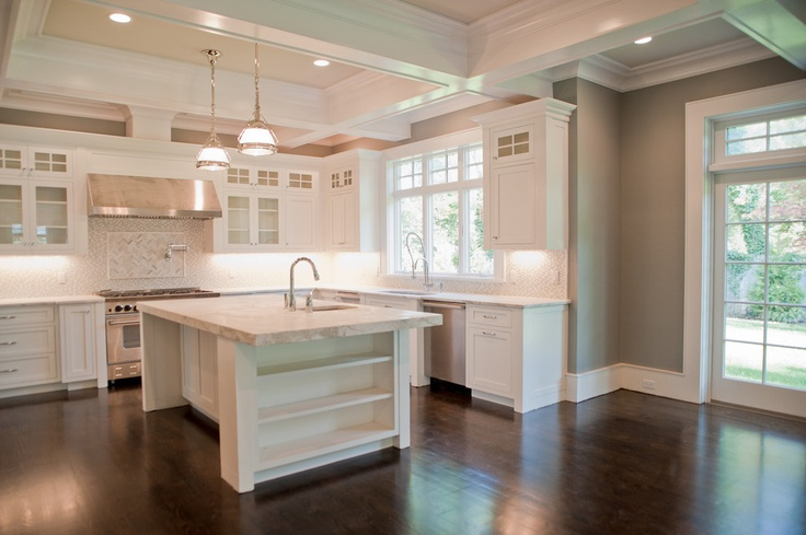 #StandardPaint this combo of cabinets, flooring and paint is perfection!