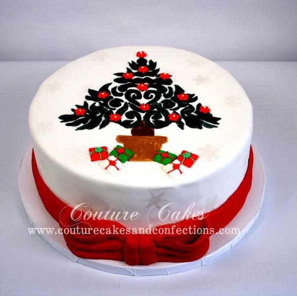 christmas cake icing decorations