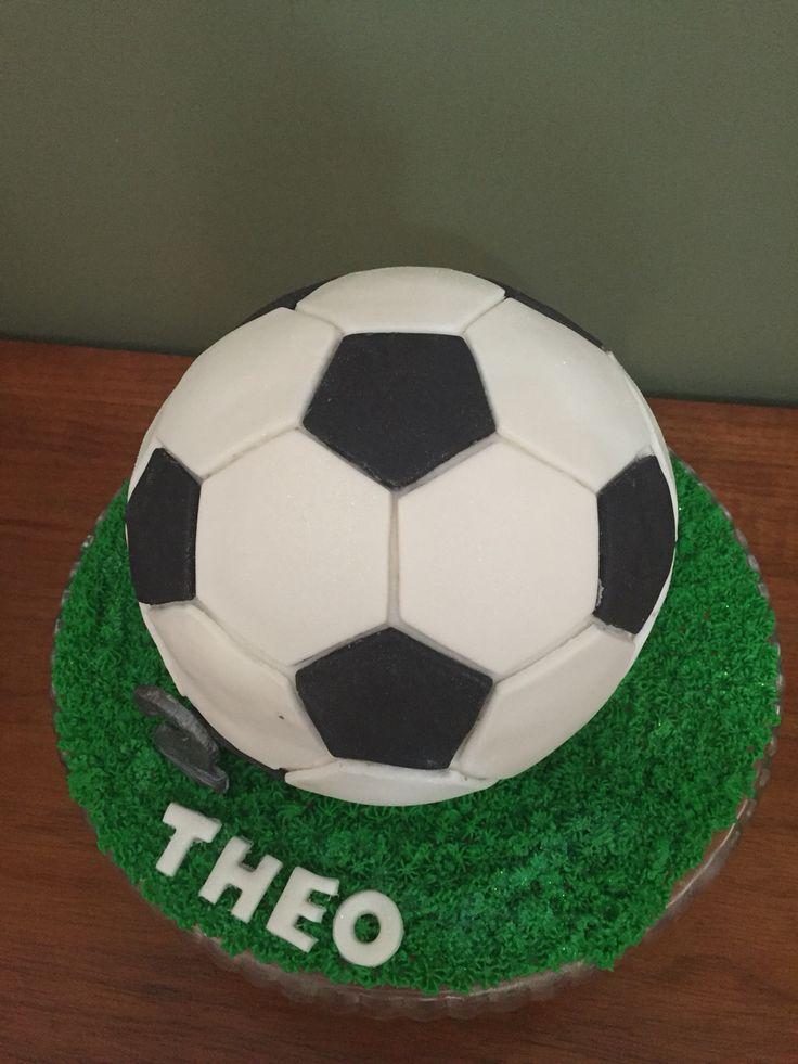 Bolo de bola de futebol