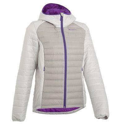 Abbigliamento escursionismo donna Montagna, Escursionismo - Piumino donna piuma Forclaz 500 XLight grigio chiaro QUECHUA - Abbigliamento Montagna