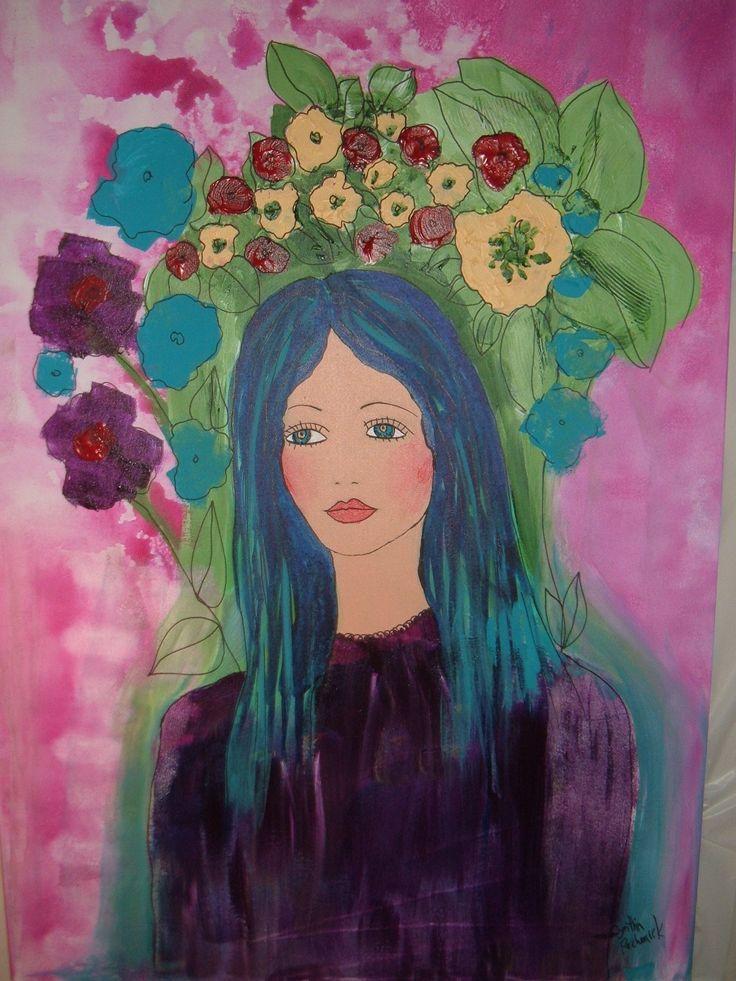 flower lady - acrylic