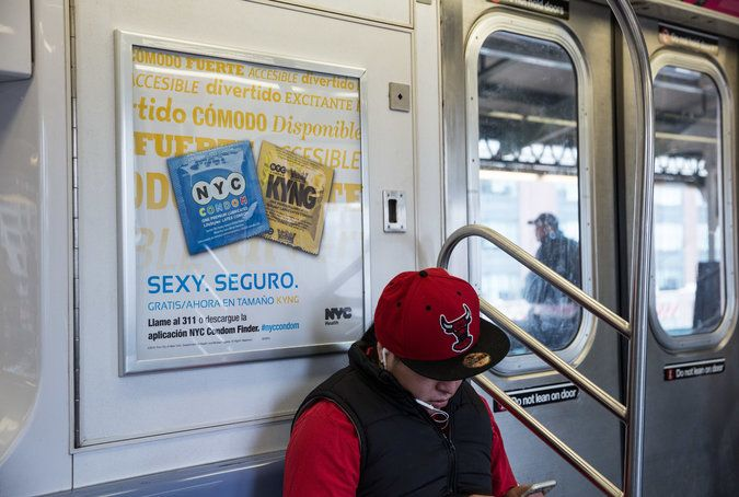 4-13-2015 Too Risqué for New York City's Subways? Some Ads Test Limits - NYTimes.com #AdEthics