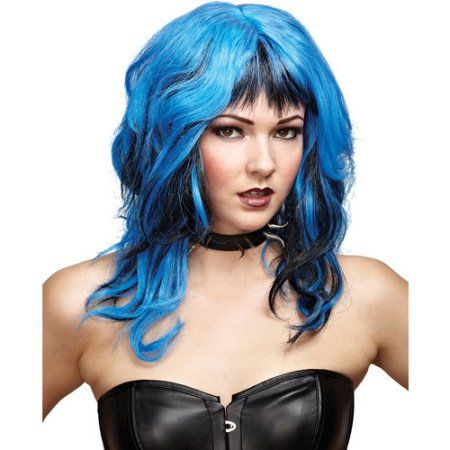 Hard Rockin' Witch Adult Halloween Wig, Women's, Black