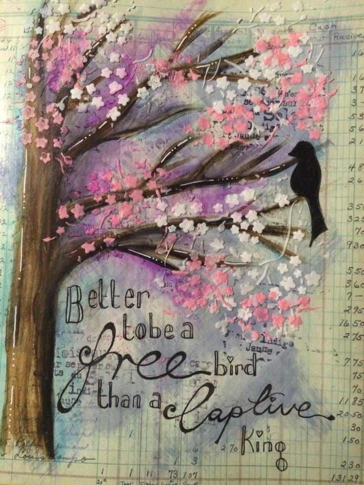Page in altered art journal vintage ledger inspired by a class by @shelleygeo