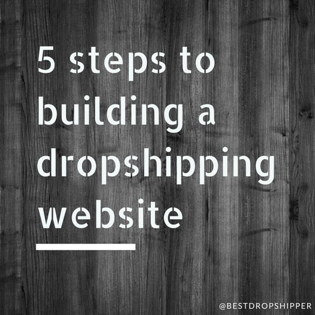 5 steps to building a dropshipping website