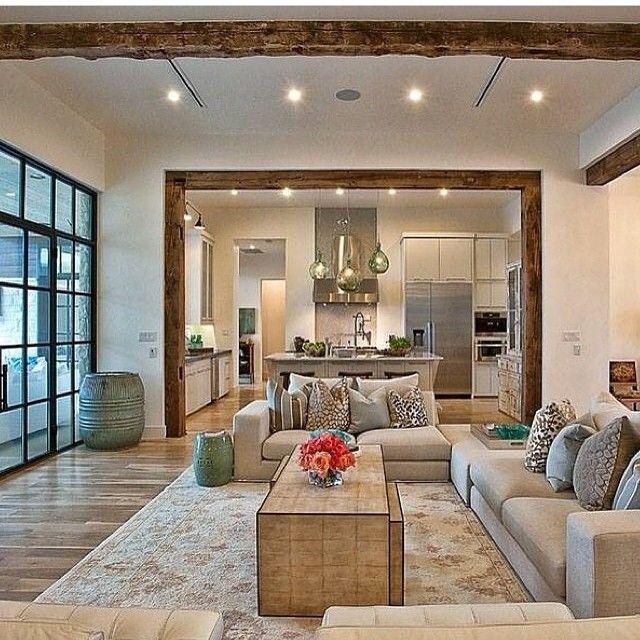 elegant suburban house with exposed interior wood beams living rh pinterest co uk