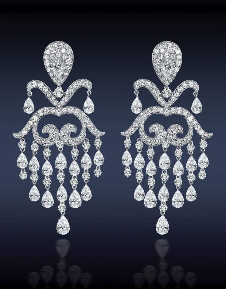 74 best Diamond chandelier earring : \