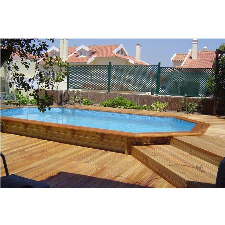 Ocea'Pool Octogonale Allongee - Piscina fuori terra in legno - Img 4