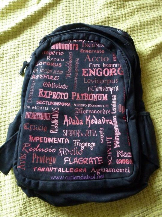spells harry potter backpack
