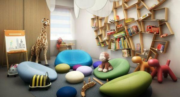 étagère murale design, chambre d'enfant