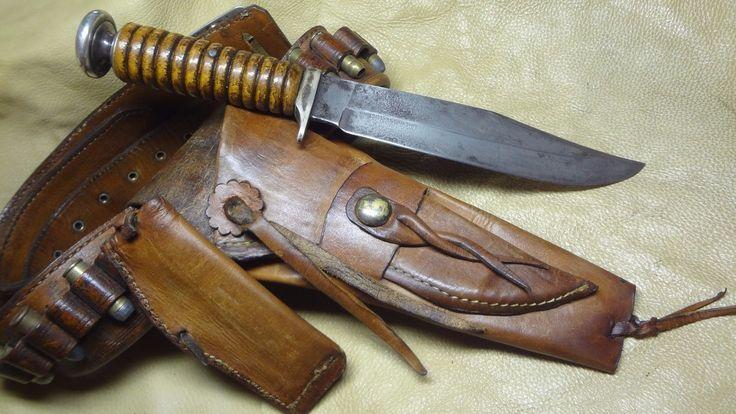 Vintage Custom Bowie Knife, Engraved Silver - Ms Dee Dee, SASS Cowboy | eBay