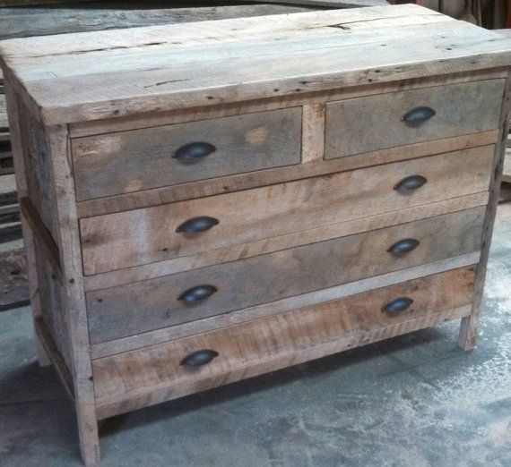 barn wood dresser for changing table
