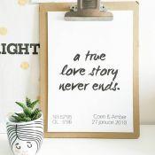 Met een custom made poster breng je een persoonlijke touch aan in een kamer. Ook erg leuk om cadeau te doen!