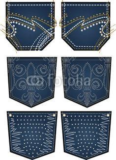 bordado de piedra para el bolsillo trasero - VMA.