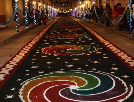 Arte y colorido en a eja tradici n tapetes y alfombras for Alfombras persas en mexico