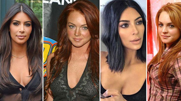 Lindsay Lohan disses Kim Kardashian for wearing braids, Kim disses Lindsay