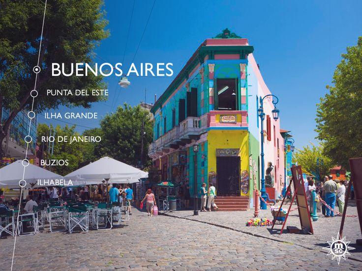 La Boca is een populaire bestemming vanwege de kleurrijke huizen en tangoclubs! #MSCPoesia