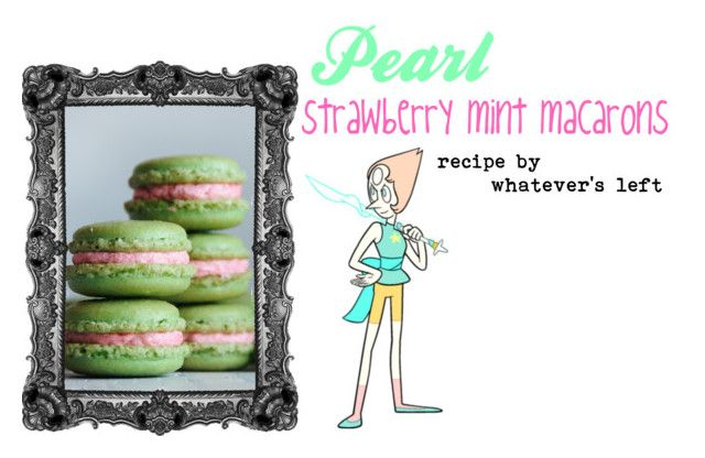 """""""Steven Universe Tea Party Treats #5 Pearl"""" by starberry-cupcake ❤ liked on Polyvore featuring interior, interiors, interior design, home, home decor and interior decorating"""