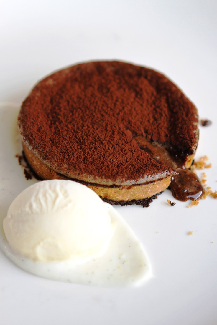 Tokara Restaurant - Three minute chocolate tart with Grand Marnier Ice Cream