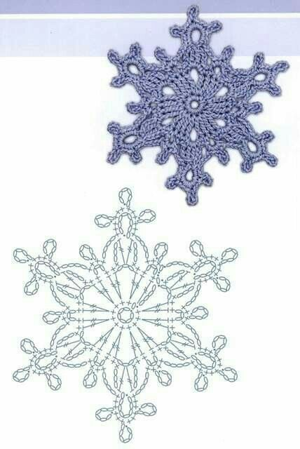 590 best crochet snowflakes images on Pinterest   Crochet snowflakes ...